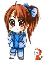 Takamina chibi and kitty by pipapipo