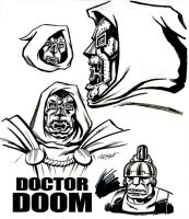 Dr. Doom Sketches by LostonWallace