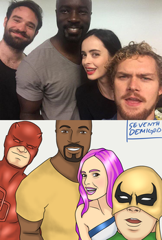 The Defenders take a selfie by seventhdemigod