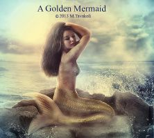 A Golden Mermaid by DigitalDreams-Art