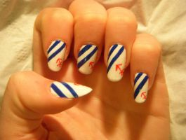 Nautical Nails by MissKellyLouise