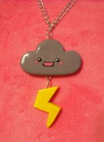 Happy Storm Cloud Necklace by Panduhmonium