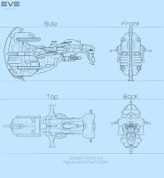 EvE Online: Ship concept design by Nyius
