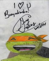 Greg Cipes Autograph by theneopetmaster