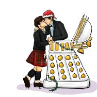 Dalek Christmas by cavatappimonster