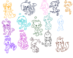 ALL the chao by riolu-mewfan