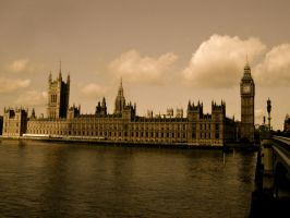 Houses of Parliament- Vintage by FleetingMoments123