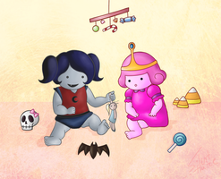 Baby Princess Bubblegum  -  Marceline by Silent--Haze