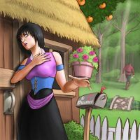 Snow White Arrives at the Home by nenerocks