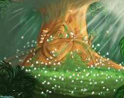 TheSecretofKells background by HezuNeutral