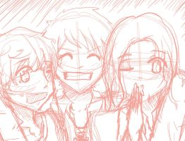 Bad Touch Trio Sketch :3 by Hanyan-x3