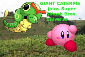 Giant Caterpie joins Super Smash Bros. Universe by RoxasXIIkeys