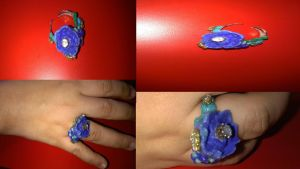 Bouquet Crystal Gems ring by DreamingMeteor