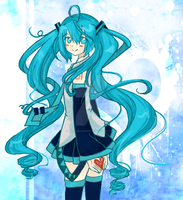 Miku - Shades Of Blue - by Yachiru-RinRin