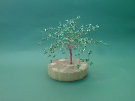 Bonsai Wire Tree Sculpture Beaded by sinisaart