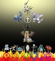 Pokemon Deities, Devils, and Demon