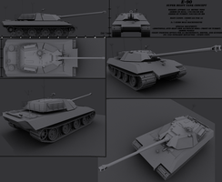 Super Heavy Tank Design by Darkheart1987