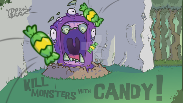 Kill monsters with candy 1 by darowadrawings