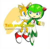 Tails and Cosmo by DarkNoise-Studios