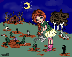 Coloring Contest Entry: Zombie Farm by PastelLights