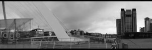 Newcastle Quayside Panoramic by N1ghtf4ll3r