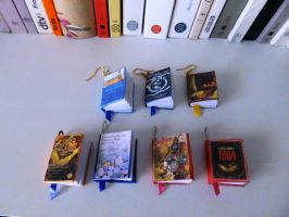 book pendants (: by SprinklesGirl