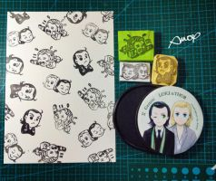 Thor Loki Stamps by amoykid