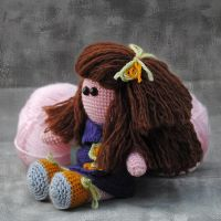 Little doll with big hair by LucieG-Stock