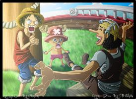 OP- Luffy Usopp Chopper by Amandine-f