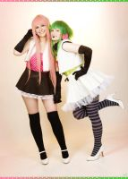 Vocaloid - Pink And Green by aco-rea