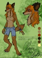 Commission - Clover CharSheet by Kiriska