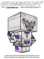Cubeecraft - Megatron 'TF-Prime' by CyberDrone
