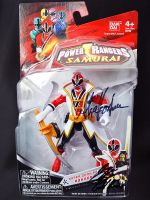 Red and Gold Samurai Rangers Autographs by ZaEmpera