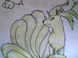 Ninetails coloured by KayceeMuffins