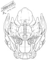 Ironhide -Head Sketch- by Rumblebee88