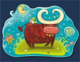 Fairy cows at Magic field by d-i-a-n-k-a