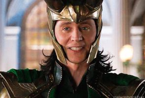 Loki/Tom grin/smile by AStolenRelic