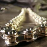 Chrome Gear Chain Necklace by Om-Society