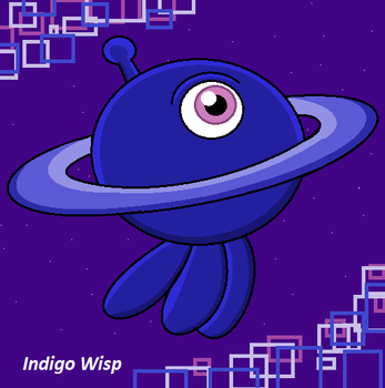 Indigo Wisp by JerrythePlayer360