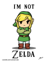 Legend of Zelda - I'm Not Zelda by caycowa
