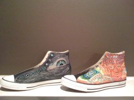 Hand-painted Chuck Taylor's II by toolshedhead