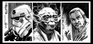 Star Wars sketch cards by GIO2286