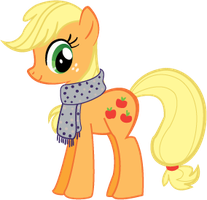 Applejack Holiday Vector by GlassGryphon