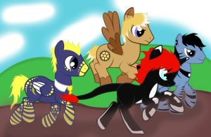 A Pony Race by dragons011