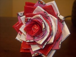 Duct Tape Rose - Hello kitty by Cookie4life