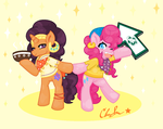 Saffron Masala and Pinkie Pie by Clairbanthedoll