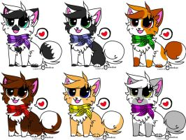 Adoptable Cats by Prince-Foxlan