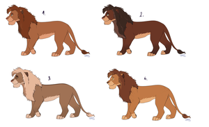 Male lion adopts (OPEN) by Lummiki