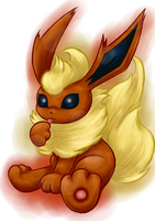 Commission: Flareon by LittleOcean