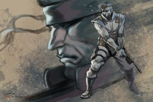 Solid Snake by ArtofTu